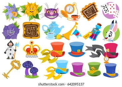 Alice in Wonderland characters and elements