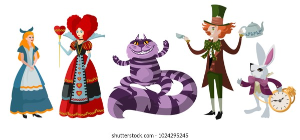 alice in wonderland classic characters