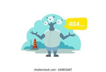 Alien arrived on rocket Error page 404 not found