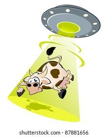 alien cow abduction