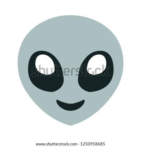 Alien Emoji Vector Stock Vector Royalty Free 1250958685 Shutterstock