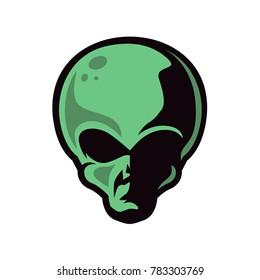 Alien Head Character Mascot