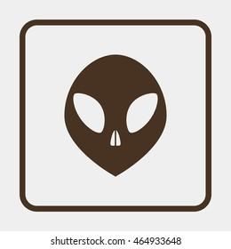 Alien head icon.