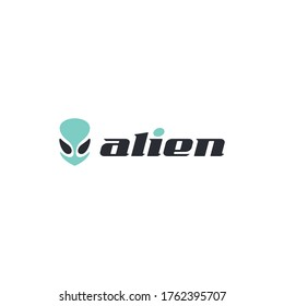 Alien head illustration for logo and other