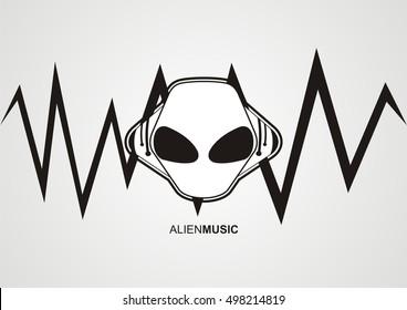 alien head music logo