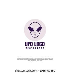 alien icon, vector illustration