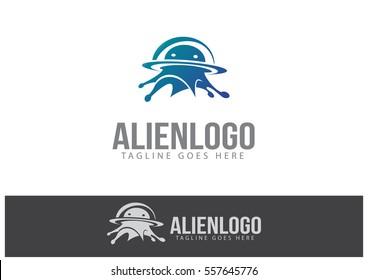 Alien Logo Template Design Vector