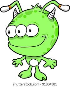 Alien Monster Vector Illustration
