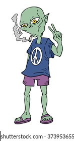 alien smoking