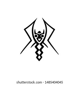 alien symbol abstract character geometry
