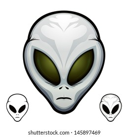 "Aliens Heads Extraterrestrial Visitor Grey ""Full compatible. Created with gradients."""