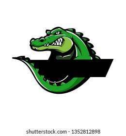 aligator illustration logo cocept