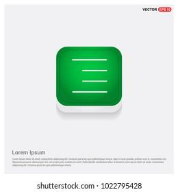 Align text icon. Green Web Button