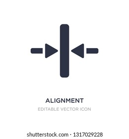 alignment icon on white background. Simple element illustration from Signs concept. alignment icon symbol design.