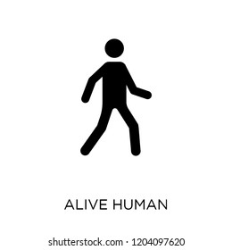 alive human icon. alive human symbol design from Feelings collection. Simple element vector illustration on white background.