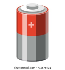 Alkaline electric battery icon. Cartoon illustration of electric battery vector icon for web