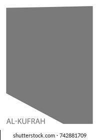 Al-Kufrah district map of Libya grey illustration silhouette shape