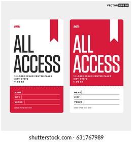 All Access Pass Template