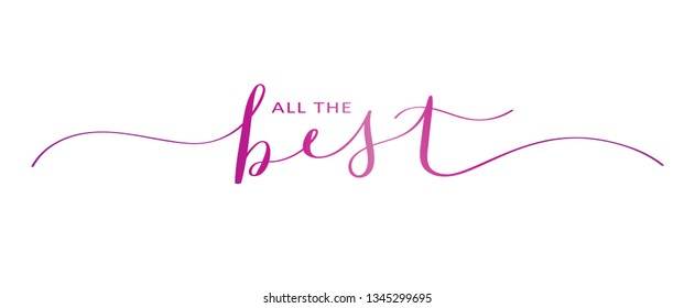 ALL THE BEST brush calligraphy banner