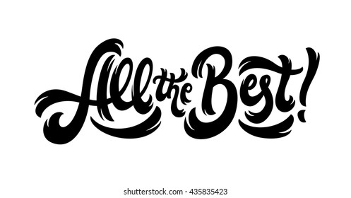 All the Best lettering text banner