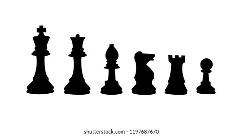 All the chess figures, isolated