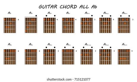 All Guitar Chords A Afbeeldingen Stockfotos En Vectoren Shutterstock