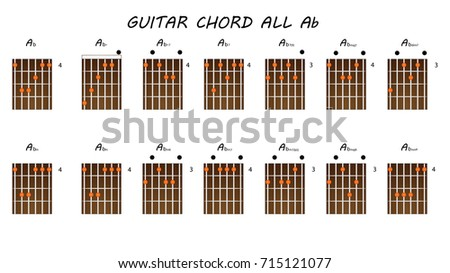 All Chords Guitar Ab Stock Vector (Royalty Free) 715121077 ...