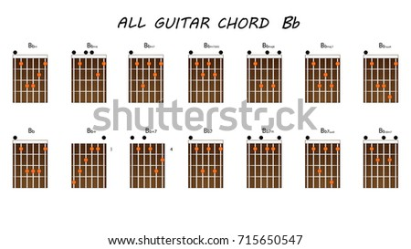 All Chords Guitar Bb Stock Vector (Royalty Free) 715650547 ...