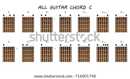 All Chords Guitar C Stock Vector (Royalty Free) 716001748 - Shutterstock