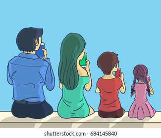 all of family smartphone addiction