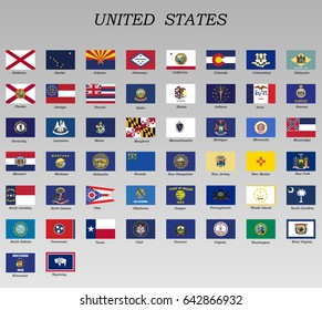 all Flags of states of the United States of America