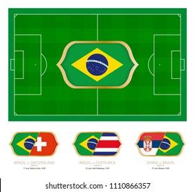All games by Brazil soccer team in group E.