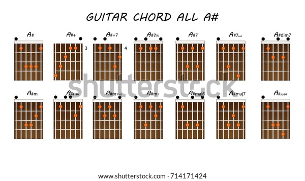 All Guitar Chords Stock Vector Royalty Free 714171424