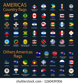 All icon americas flags