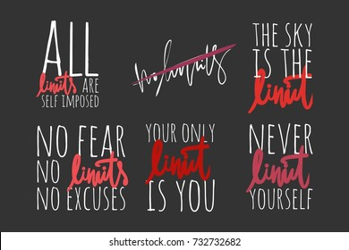 All limits are self imposed. No fear. No limits. No regrets  Hand lettering and custom typography for your designs: t-shirts, bags, for posters,