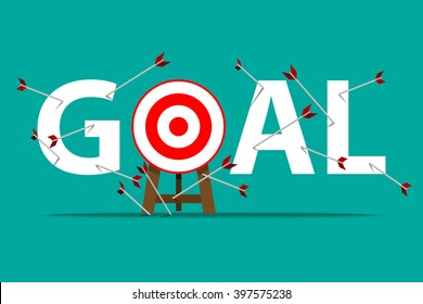 All Miss target, all goals vector success business strategy concept icon