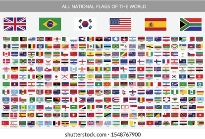 All national flags vector of the world