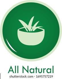all natural / 100% natural icon