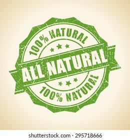 All natural green stamp