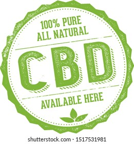 All Natural Pure CBD Oil Sign
