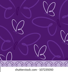 All occasion butterfly card in vector format.