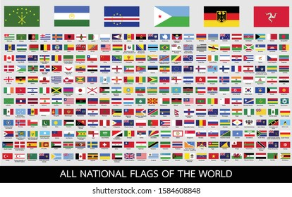 All official national flags of the world