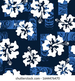 all over print hibiscus pattern