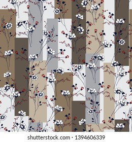 all over small flowers pattern on stripe background