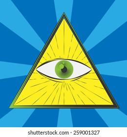 All seeing eye symbol, excellent vector illustration, EPS 10