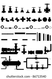All sorts of apparatus, supplies, equipment for oil and gas processing.