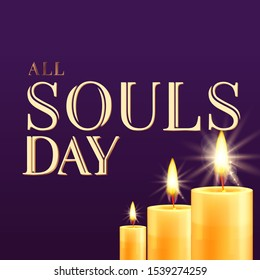 All souls day type vector illustration