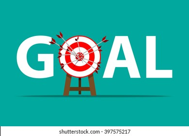 All Successful attempt, Miss target, all goals vector success business strategy concept icon
