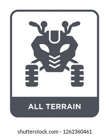 all terrain icon vector on white background, all terrain trendy filled icons from Transportation collection, all terrain simple element illustration