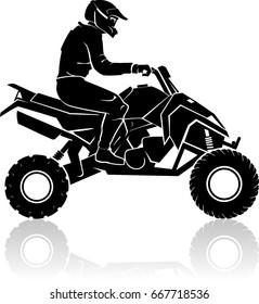 All Terrain Vehicle or ATV Silhouette